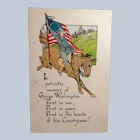 Vintage Embossed Patriotic George Washington Postcard