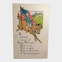 Vintage Embossed Patriotic George Washington Postcard