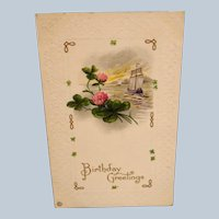 Vintage Birthday Greeting Postcard - Used