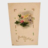 Vintage Birthday Greeting Postcard - Used