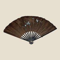 Victorian Black Silk Fan – Antique Hand Fan