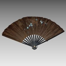 Victorian Black Silk Fan – Antique Hand Fan