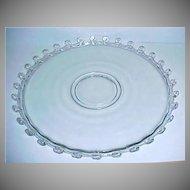 "Very Elegant HEISEY Glass Cake Plate - Serving Platter - Lariat Pattern 14"" Torte Plate"