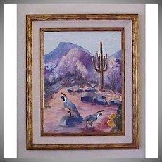 Original Oil Painting on Canvas - Arizona Plein Air Desert Landscape - Helen Briggs Abernathy Artist
