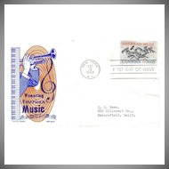 FDC First Day of Issue - Honoring American Music - 1964 - Cachet Craft - Ken Boll