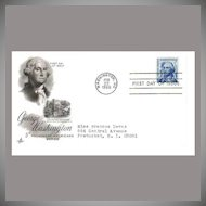 FDC First Day of Issue - George Washington - Feb 22, 1966