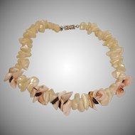 Vintage Les Bernard Natural Shell Choker Necklace