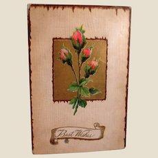Vintage Postcard - Best Wishes Used