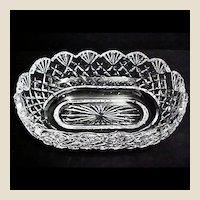 Irish Waterford Crystal Cut Glass Bowl - Emily Scalloped Pattern