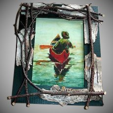 Robert Stump Watercolor Print - Lodge Camp or Cottage Framed Print