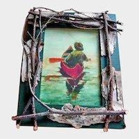 Robert Stump Watercolor Print - Lodge, Camp or Cottage Framed Print