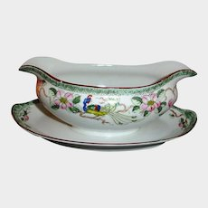 Nippon Porcelain Gravy Boat - Antique China Gravy Boat by Noritake - Bird of Paradise Pattern or Mystery #40