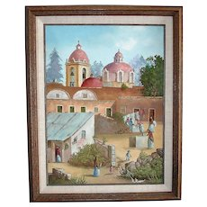 Original Signed Oil Painting on Canvas - Framed - by R Reyes