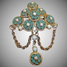 Vintage HOBE Brooch Pin - Signed Hobe Jewelry