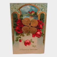 Vintage Post Card - A Friendly Greeting Postcard