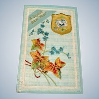 Antique Embossed Joyous New Year UNUSED Postcard