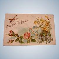 Antique Embossed Postcard - Leo E Beers