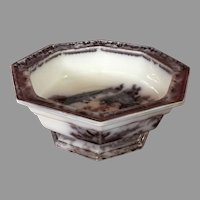 Podomore Walker Co. Signed Mulberry Corean Tureen Handle Bowl