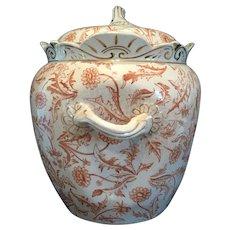 Signed Ott & Brewer China Biscuit Jar C. 1876