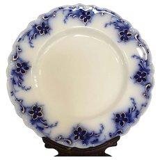 Set of 4 Flow Blue Gold Alfred Meakin Oakley Dinner Plates