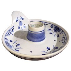 Delft Holland Pottery Blue Signed Candle Holder