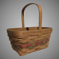 Rare Retired Vintage 1986 Longaberger Easter Basket Signed By Dave & SLG