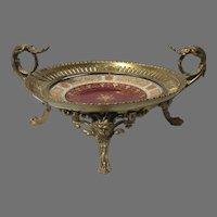 19th Century Royal Vienna Porcelain Gilt Sevres Mounted Bronze Ormolu Dore Centerpiece