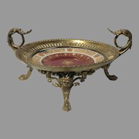 19th Century Royal Vienna Porcelain Gilt Sevres Mounted Bronze Ormolu Dore Centerpiece