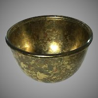Signed Lesley Roy Gold Leaf Art Bowl