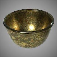 Signed Lesley Roy Gold Leaf Art Bowl