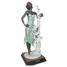 Rare L.E. Guiseppe Armani Mahogany Retired Figurine Color #194C