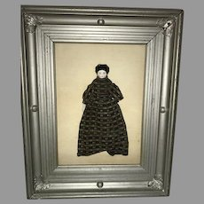 Eclectic Dream Box China Doll Framed Oil Painting on Back signed Gloria