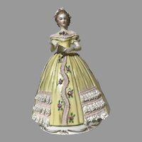 Sitzendorf Godey's Fashion 1863 Porcelain September Figurine