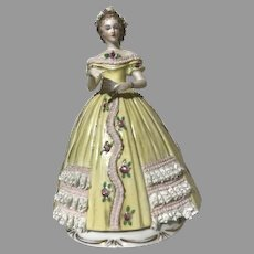 Sitzendorf Godey's Fashion 1863 Porcelain September Figurine