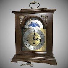 Seth Thomas Moon Dial Bracket Clock Franz Hermle Movement 8-Day Westminster Chime Wharton 1219