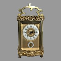 Rare 1867's French Carriage Clock Louis XV Doucine Case
