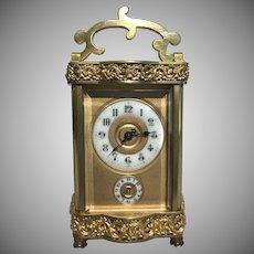 Rare 1867's French Carriage Clock Louis XV Doucine Case