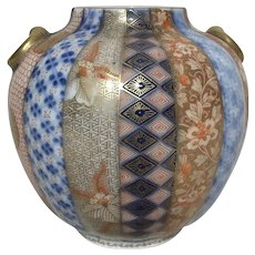 Fukagawa Meiji Hand Painted Imari Small Vase