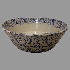 19th Century Spongeware Pottery Cream Bowl