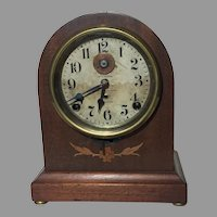 Rare Seth Thomas 8 Day Long Alarm Inlaid Beehive Mantel Clock