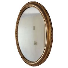 19th Century French Giltwood Gesso Oval Mirror