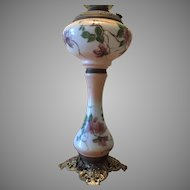 Unique Tall Banquet Satin Oil Lamp Electrified North Wind Base