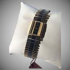 Rare W.Germany Made Swiss Gruen Quartz Watch Two Tone