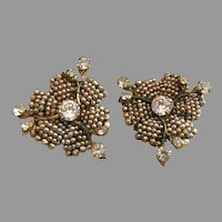 Miriam Haskell Most Rare Rose Montee Earrings