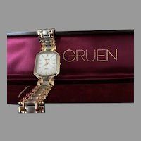 Vintage Gruen Swiss Two Tone Men's Watch