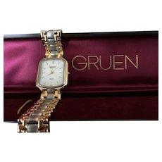 Vintage Gruen Swiss Two Tone Men's Watch
