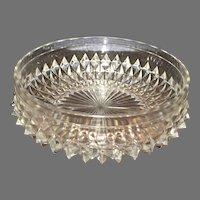 Vintage Lead Crystal Diamond Cut Heavy Bowl