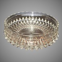 Vintage Lead Crystal Diamond Cut Heavy Bowl