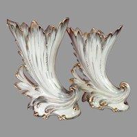 Stunning Rare Pair Old Paris Porcelain Vase