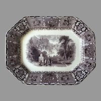 Rare Antique Peruvian Wedgwood Ironstone Platter